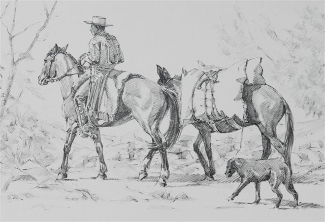 the pack mule horse painter ros
