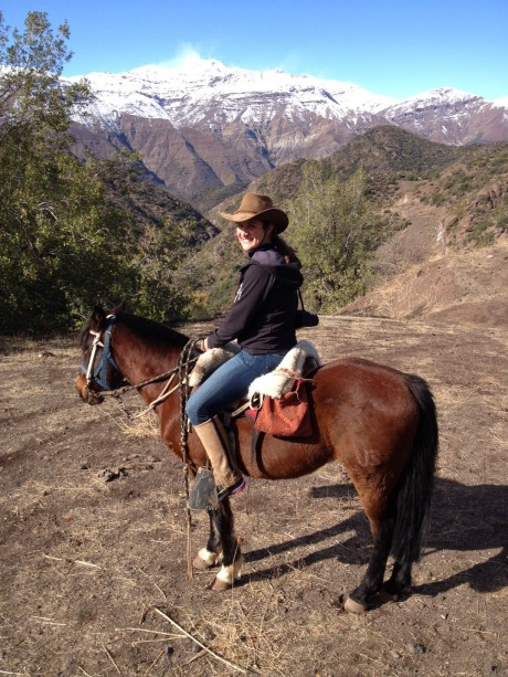 horseback riding in the Andes, cowboy hat