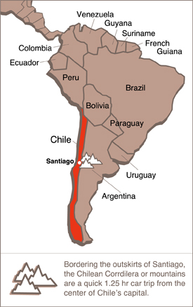 map-south-america - Horse Riding Santiago Chile