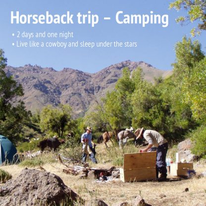Camping overnight with horses. Rides in the Andes by Santiago